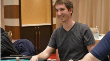 Matt Vaughan playing Poker in a Casino