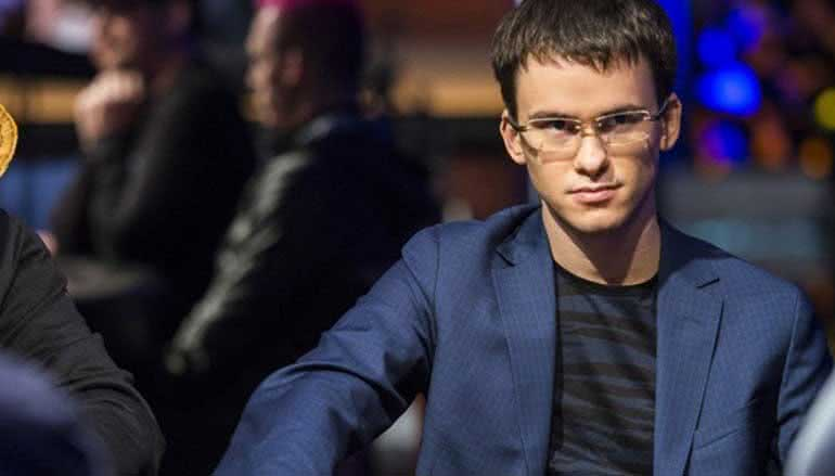 "Timofey ""Trueteller"" Kuznetsov playing poker in a live poker event"