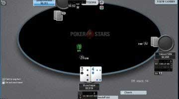 screenshot of me playing sit and gos at Pokerstars