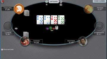 screenshot of me playing sit and gos and poker tournaments